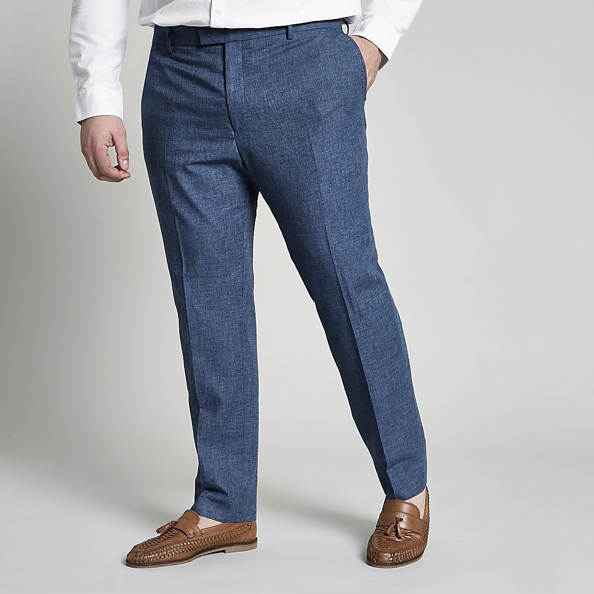 Big and Tall – Pantalon de costume bleu