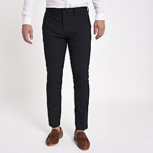 Marineblaue, elegante Skinny Fit Hose