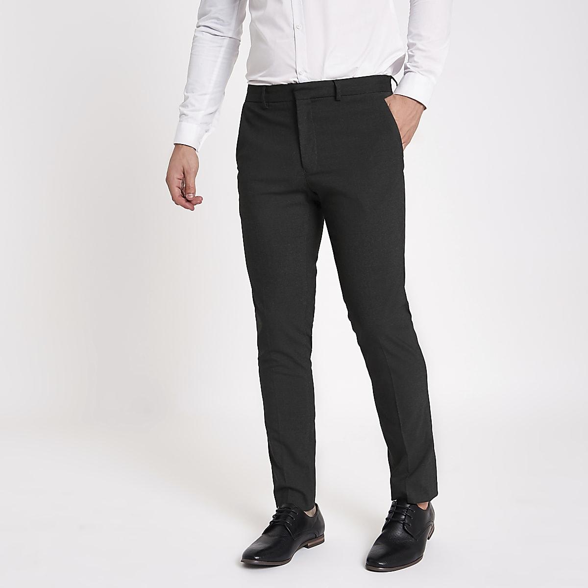 Grey skinny fit smart pants
