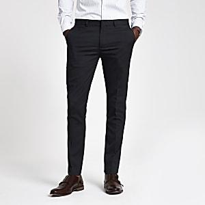 Pantalon habillé super skinny bleu marine