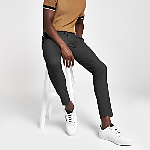 Grey super skinny smart trousers