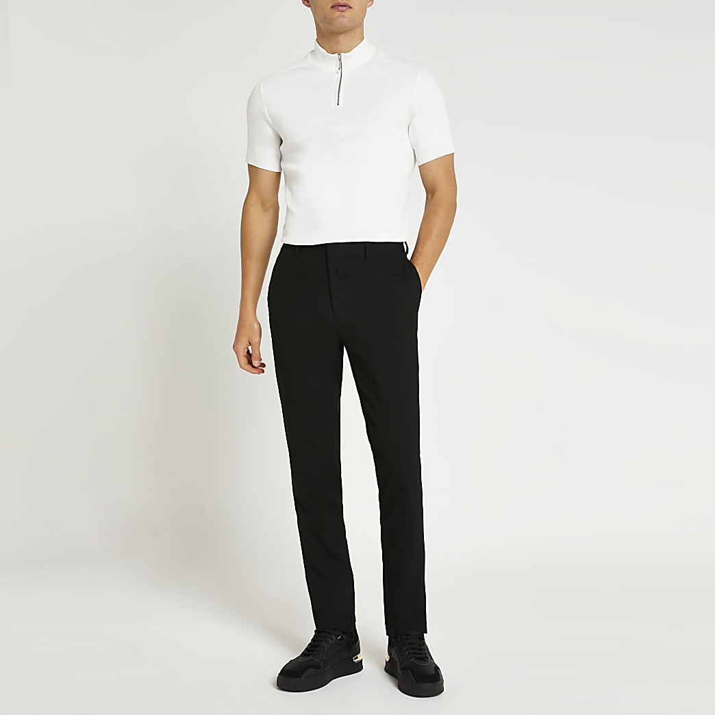 Zwarte nette slim-fit broek