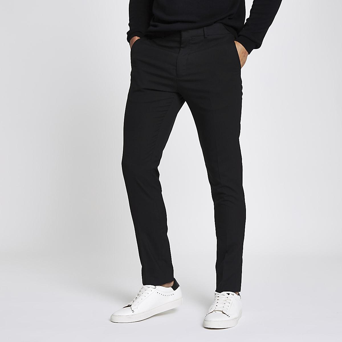 Joggingbroek Heren Skinny.Zwarte Nette Skinny Fit Broek Modieuze Broek Broeken Heren