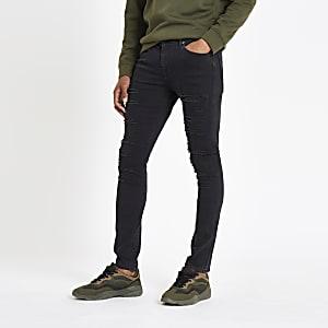 Danny - Zwarte ripped superskinny jeans
