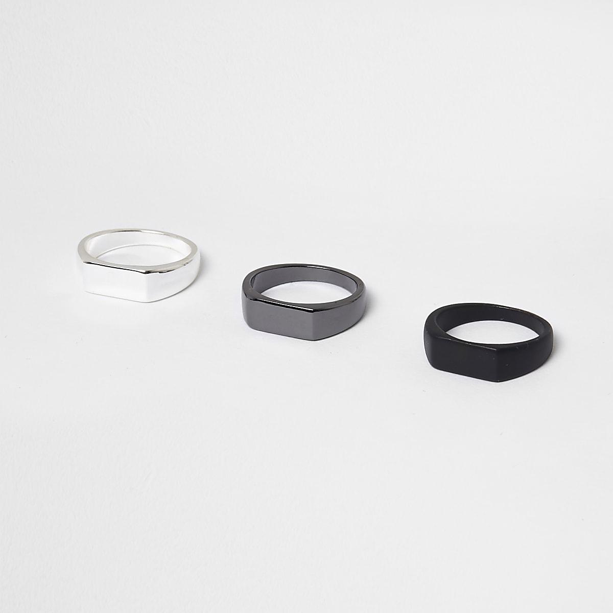 Schwarzer Ring im Multipack