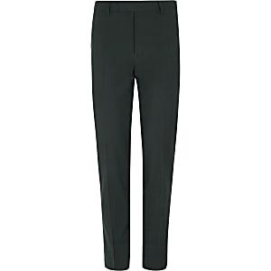 Dark green stretch skinny fit suit pants