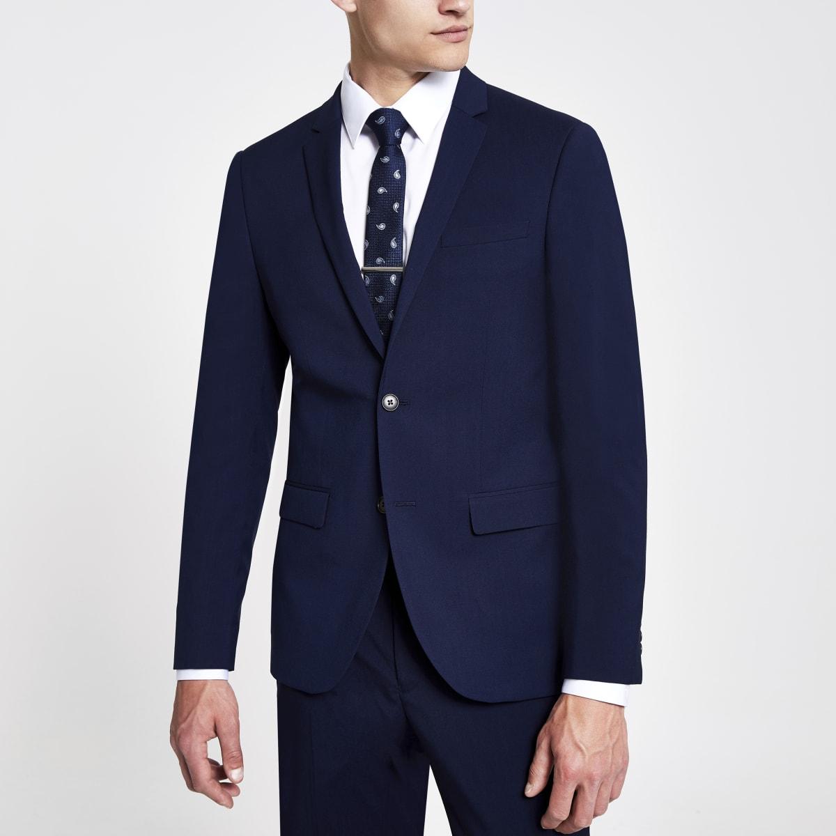 Veste de costume bleu marine cintrée
