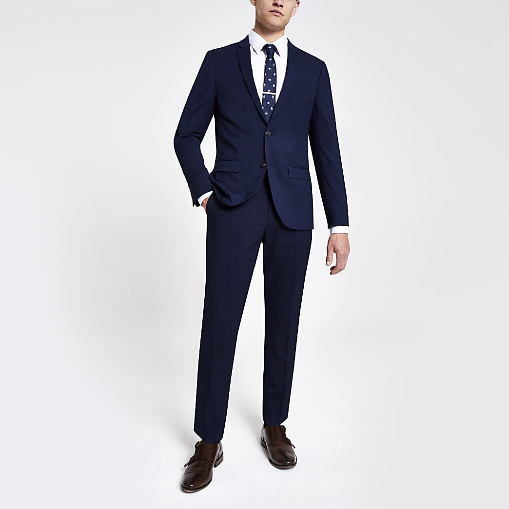 Marineblauwe skinny pantalon