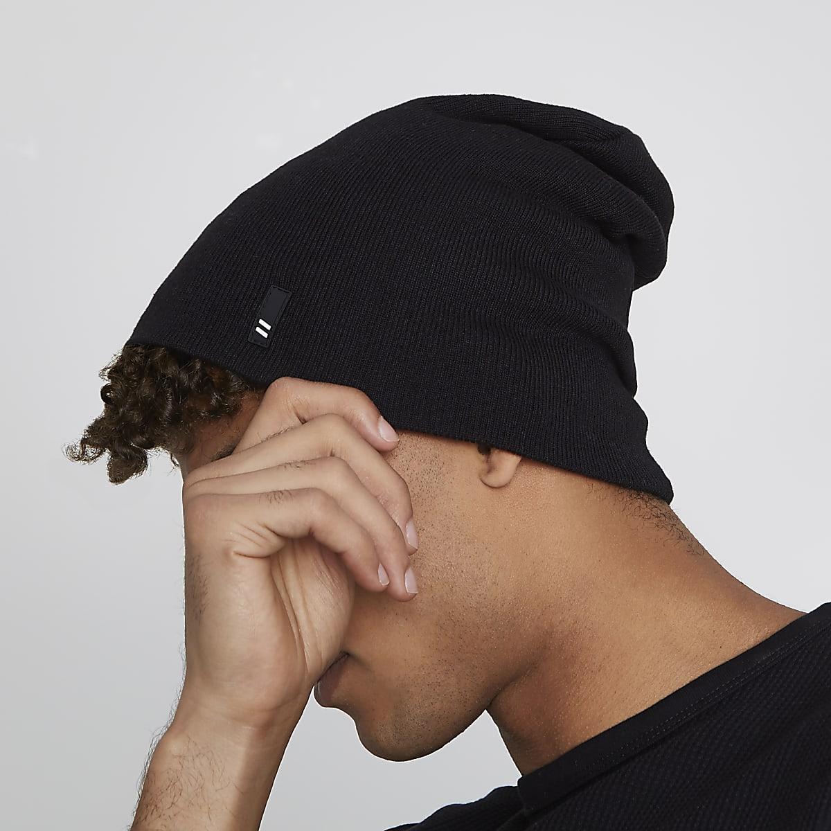 74aee0a74fb Black slouchy beanie hat - Hats   Caps - Accessories - men