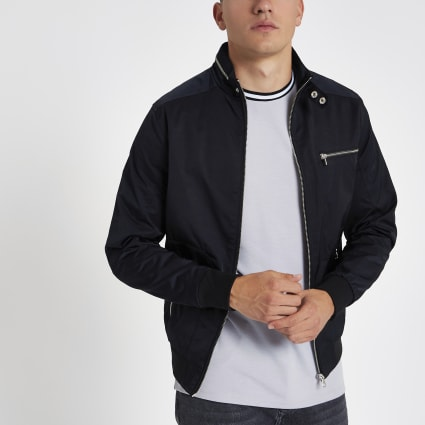 Black lightweight racer jacket