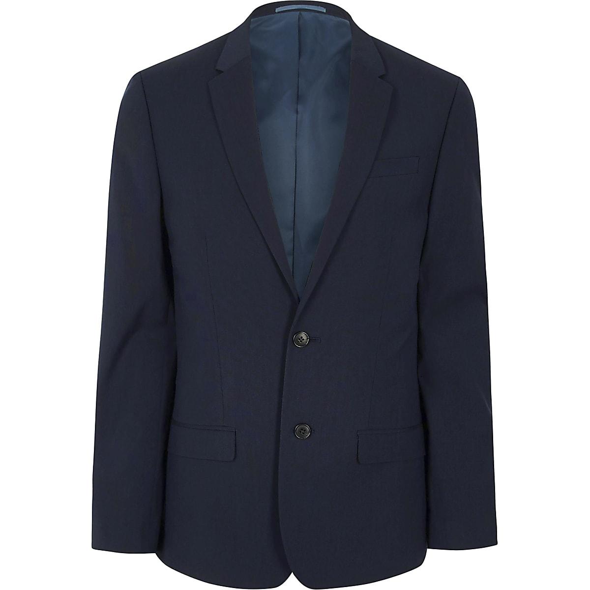 29fe86c9f719 Dark blue slim fit suit jacket - Suit Jackets - Suits - men