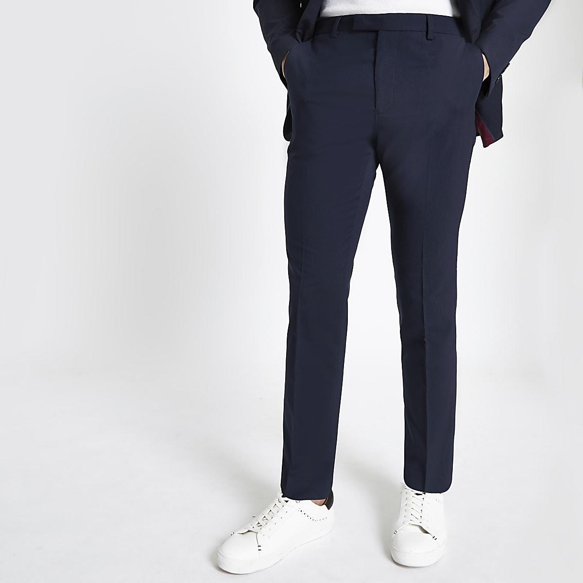 Marineblaue Anzughose in Slim Fit