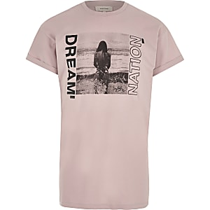 T-shirt imprimé photo « dream nation » rose