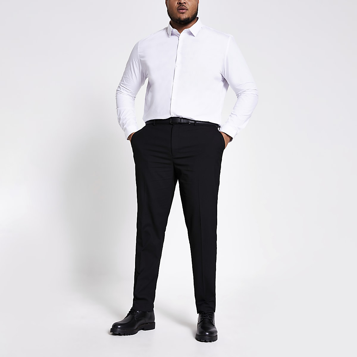 Big & Tall – Schwarze, elegante Hose