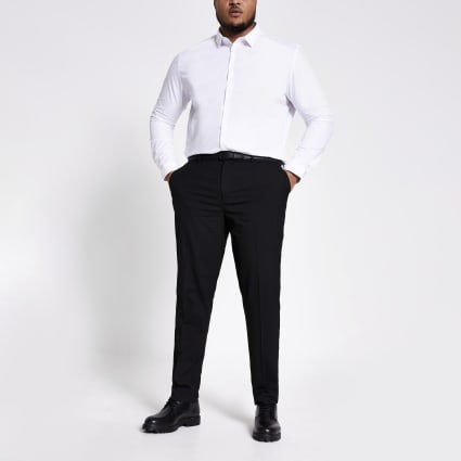 Big and Tall black smart trousers