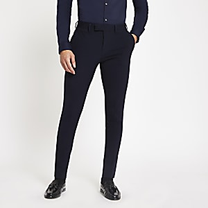 Navy super skinny suit pants