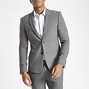 Grey super skinny suit jacket