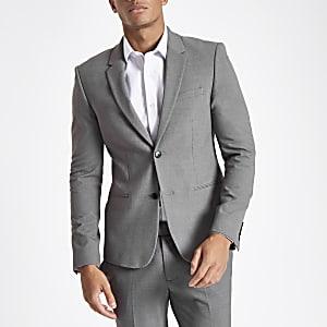 Veste de costume super skinny grise