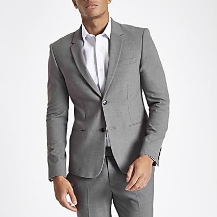 Grey super skinny suit jacket