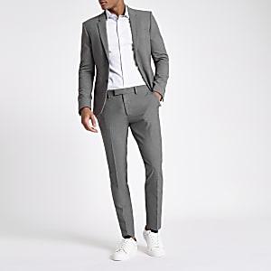 Grey super skinny suit pants