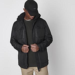 Jack & Jones Premium black parka jacket