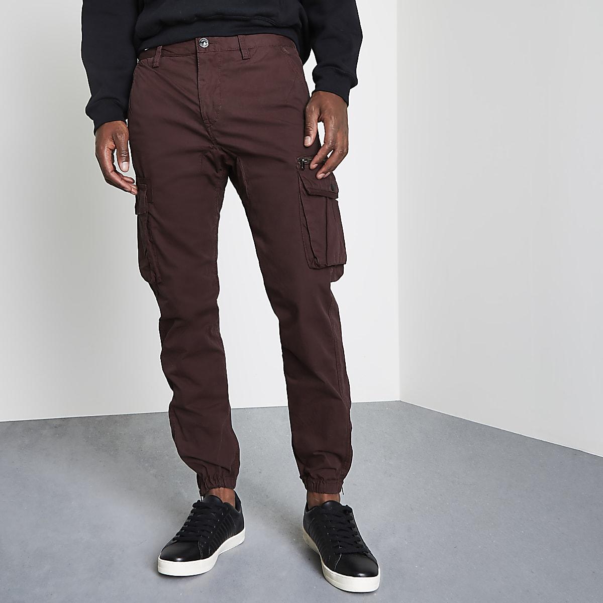 Pantalon de jogging cargo bordeaux