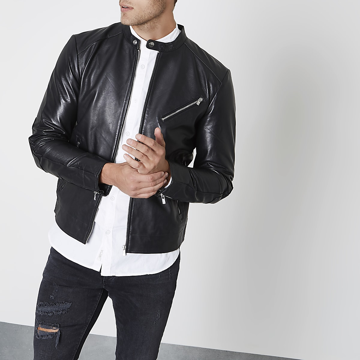 a18d1f35d03540 Black Jack   Jones Premium leather jacket - Jackets - Coats   Jackets - men