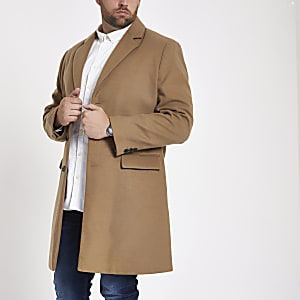 Big & Tall – Eleganter Mantel in Camel