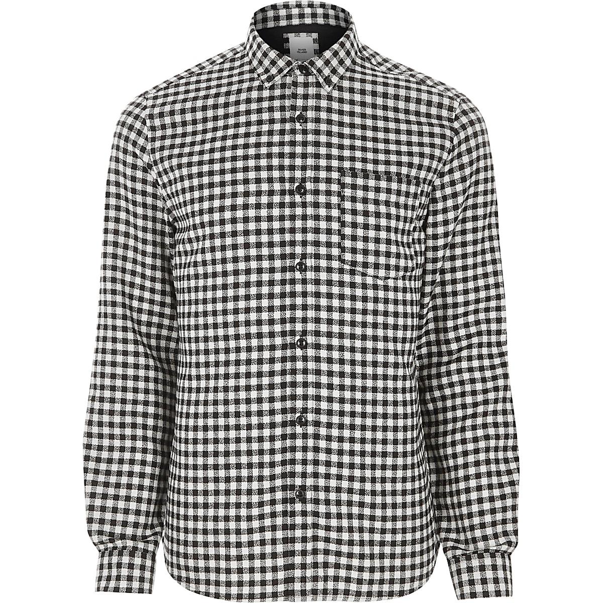 Black gingham long sleeve shirt