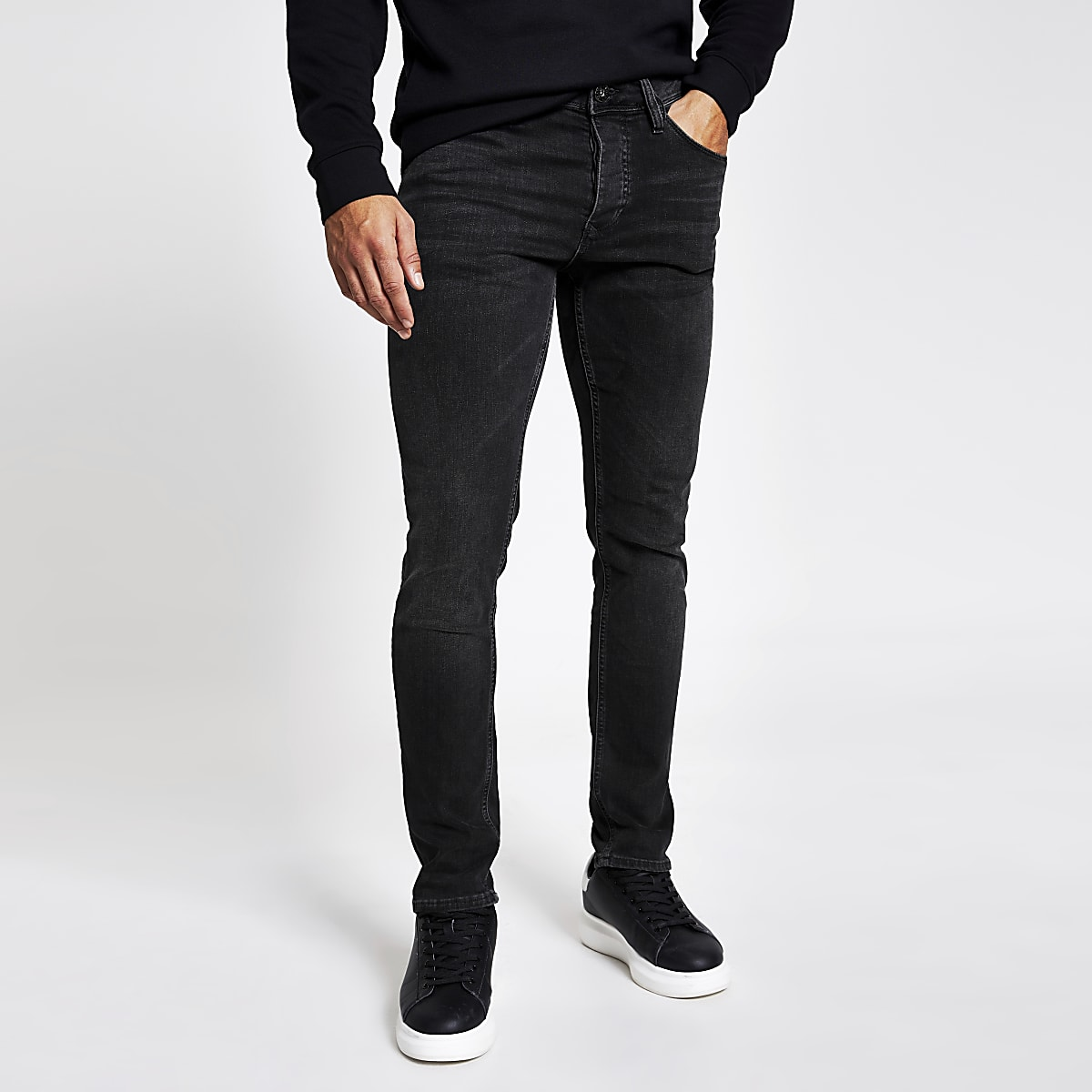 60ab4360 Black fade detail Dylan slim fit jeans - Slim Jeans - Jeans - men