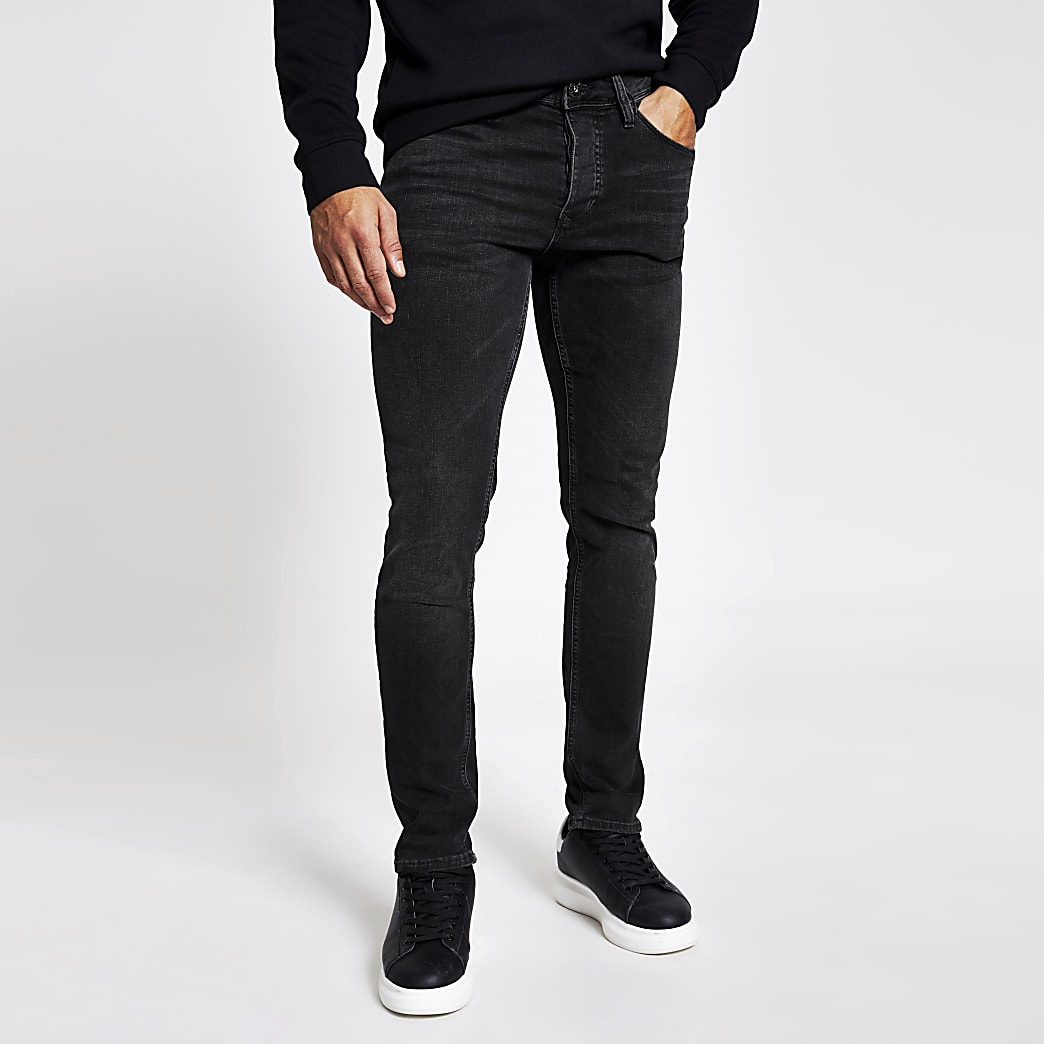 Dylan – Schwarze Slim Fit Jeans mit verblasster Optik