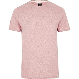Slim Fit T-Shirt in Hellrosa