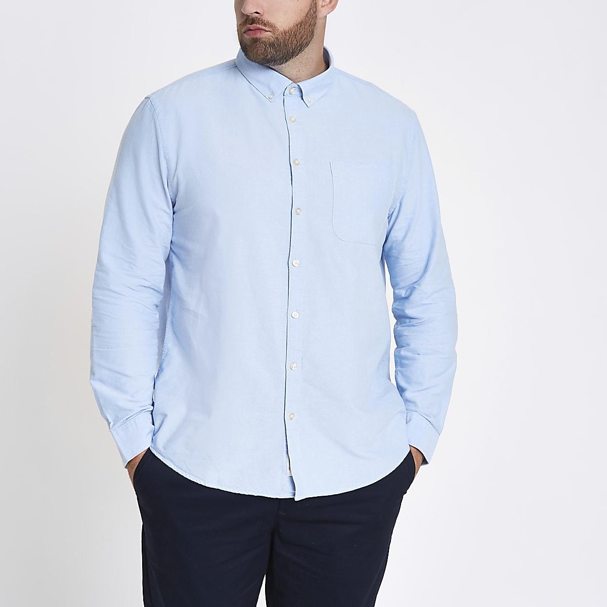 Big & Tall – Chemise bleu clair à manches longues