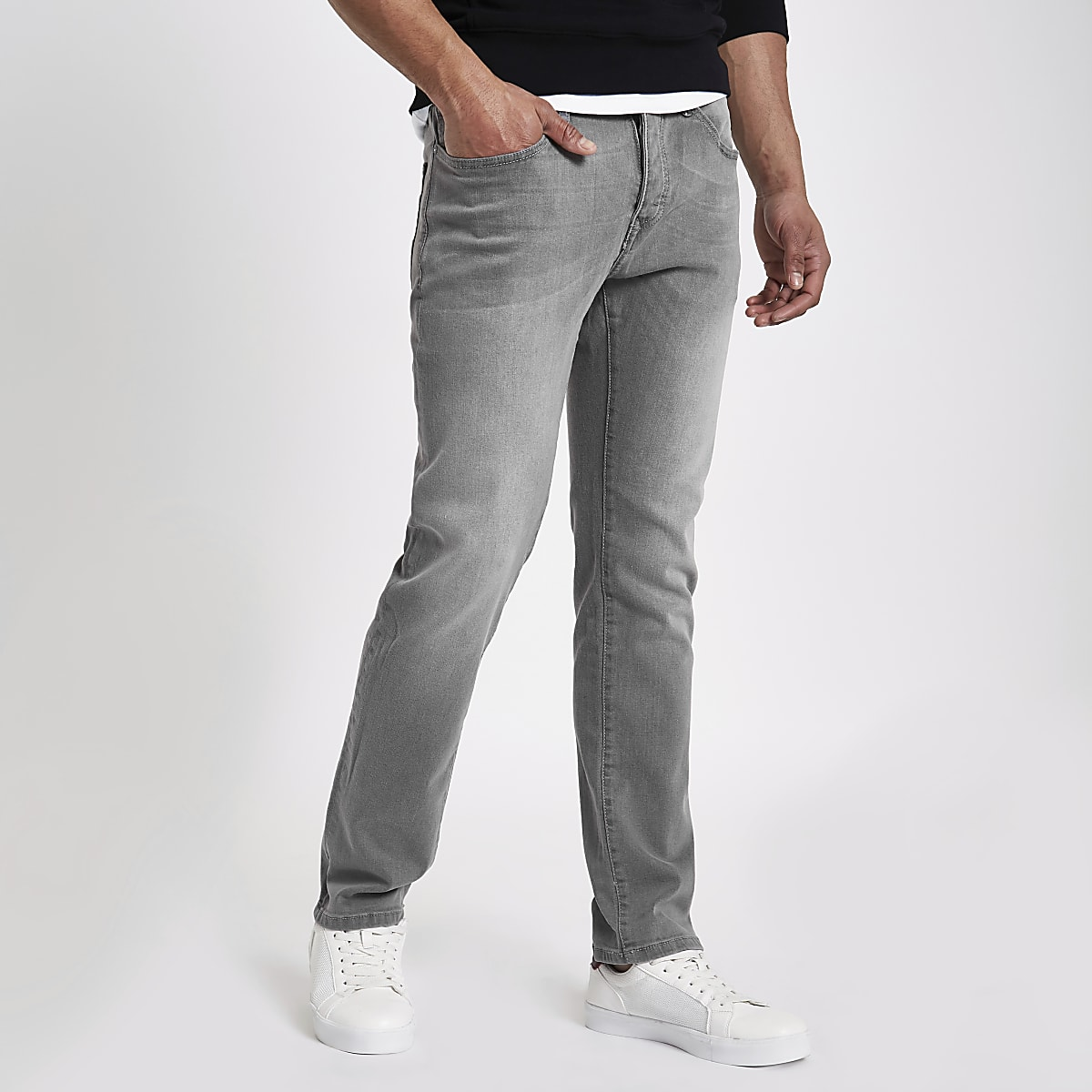 Grey wash Dylan slim fit jeans