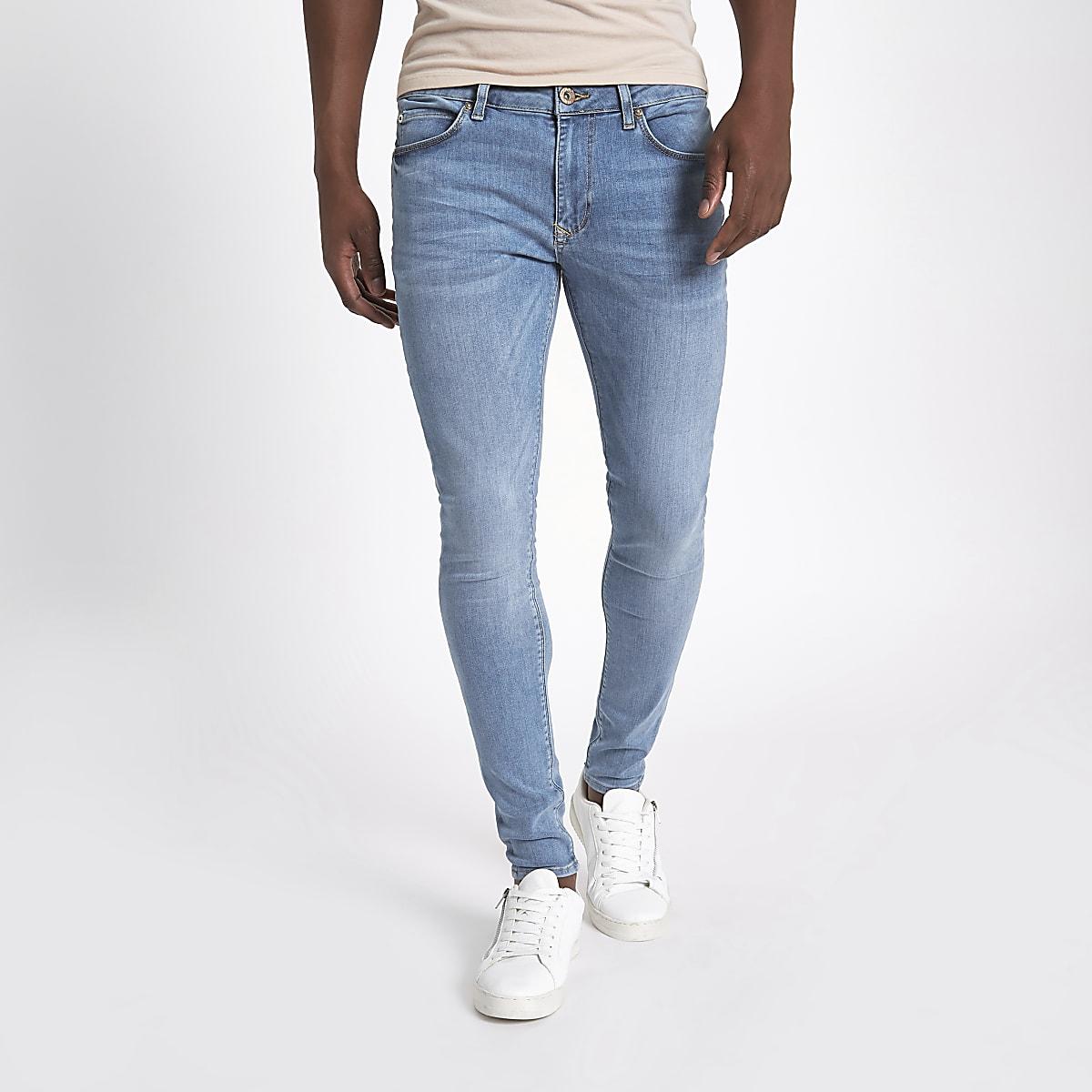 baa52a1f5a2 Light blue Ollie super skinny spray on jeans - Spray On - Jeans - men