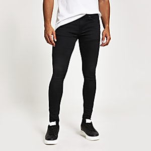 Ollie - Zwarte superskinny spray-on jeans