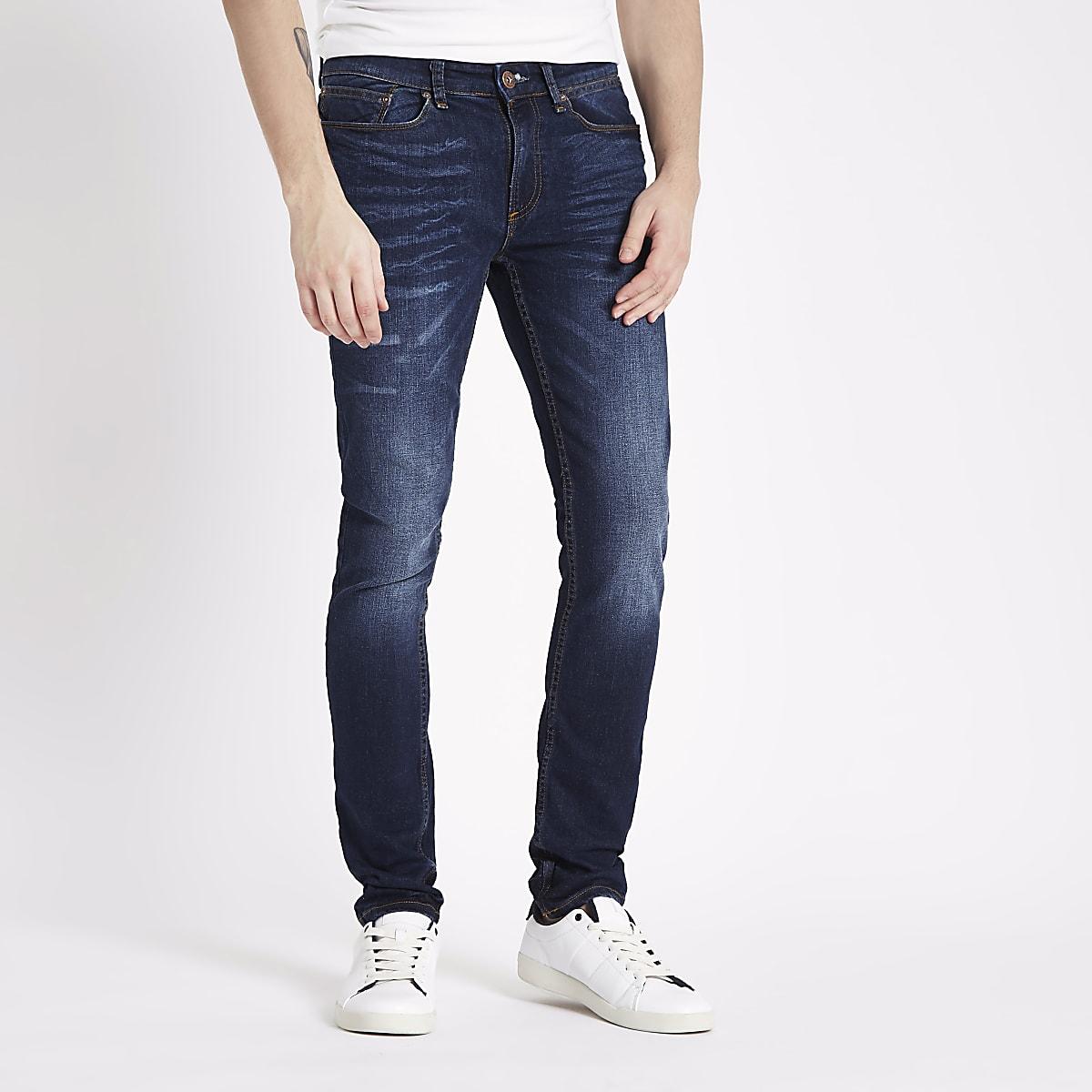 06d68a4b8 Dark Blue Denim Jeans Mens - The Best Style Jeans
