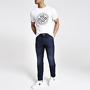 Dark blue fade Dylan slim fit jeans