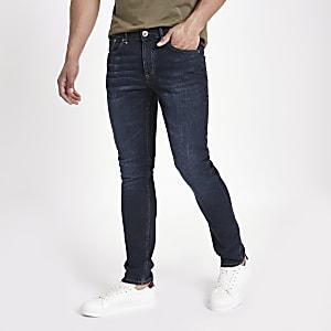 Sid - Donkerblauwe vervaagde skinny jeans