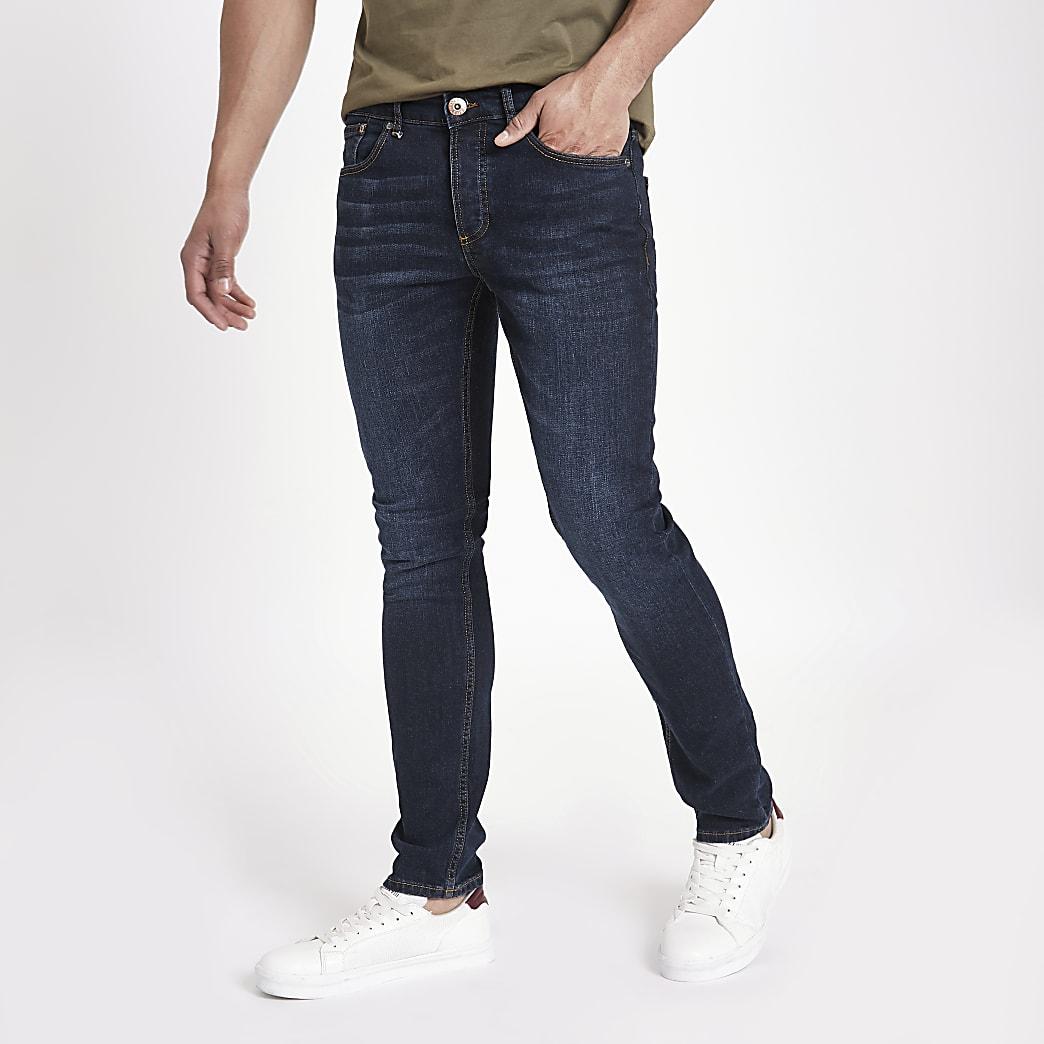 Sid – Jean skinny bleu foncé délavé