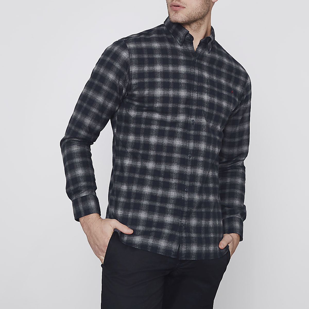 Jack & Jones Premium grey check shirt