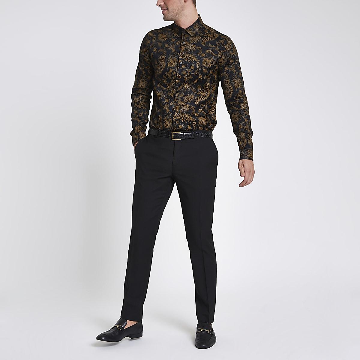 Jack & Jones Premium black tux trousers