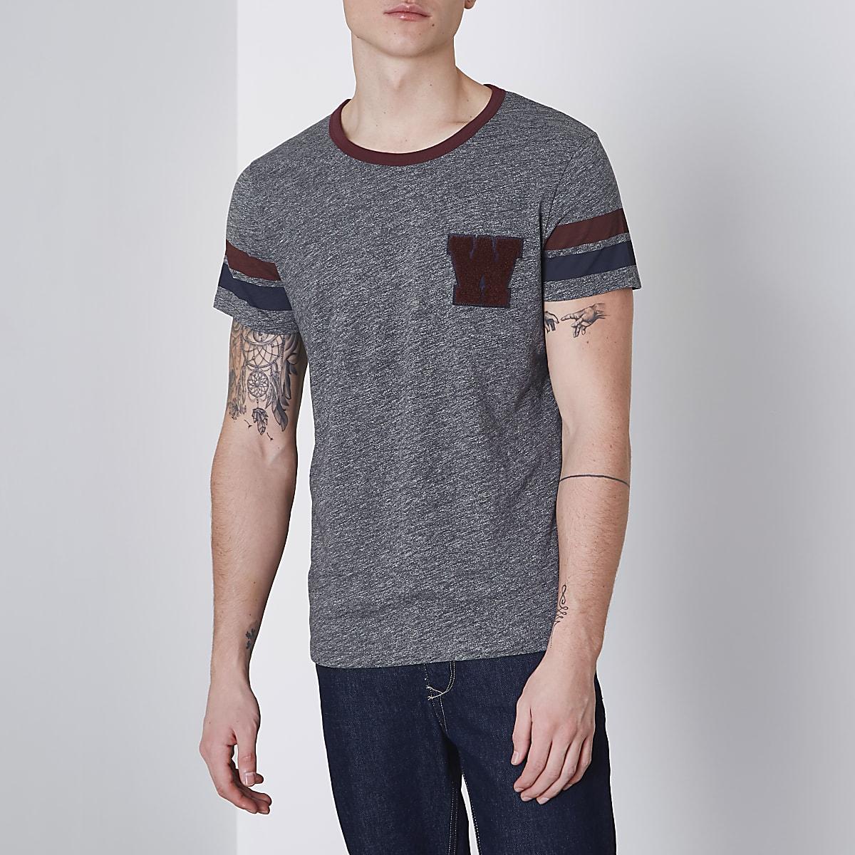 Wrangler grey short sleeve T-shirt