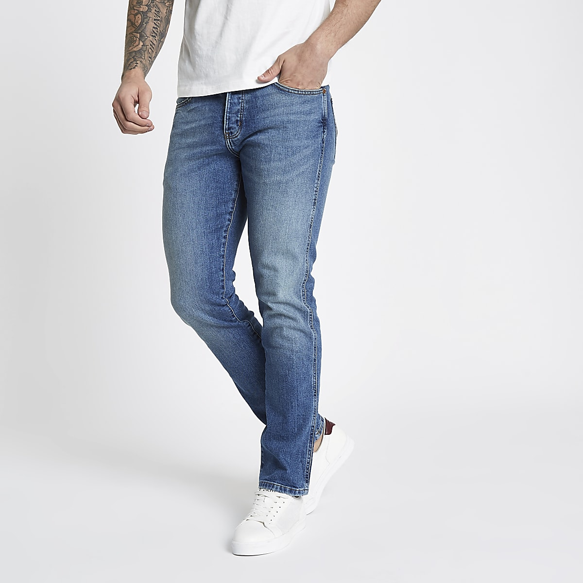 Wrangler blue Spencer slim straight jeans
