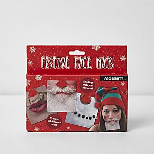 Festive face drinking mats