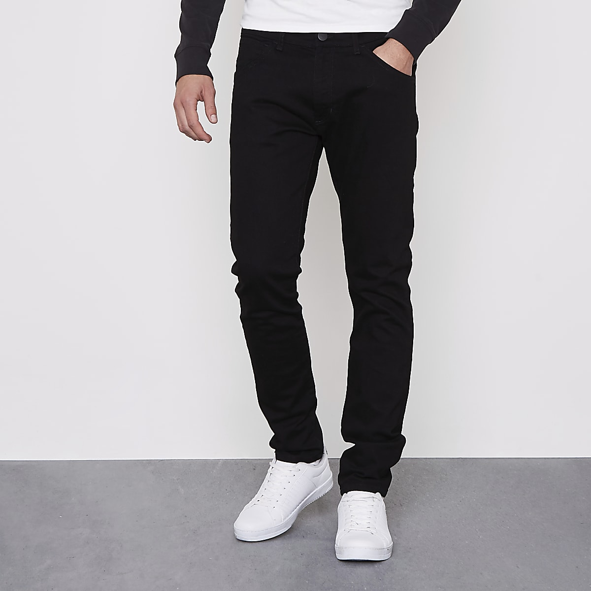 attractive style factory reputable site Wrangler black Bryson skinny fit jeans