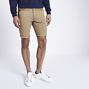 Short chino fauve coupe skinny