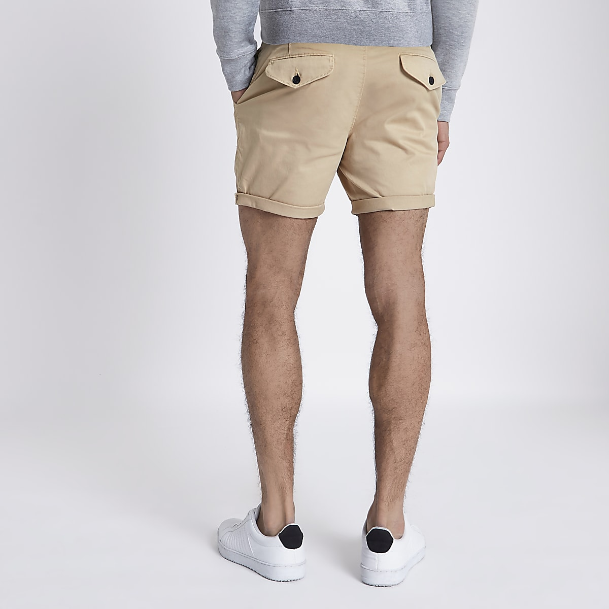Fit Shorts Tan Up Turn Hem Slim Chino mn80wN