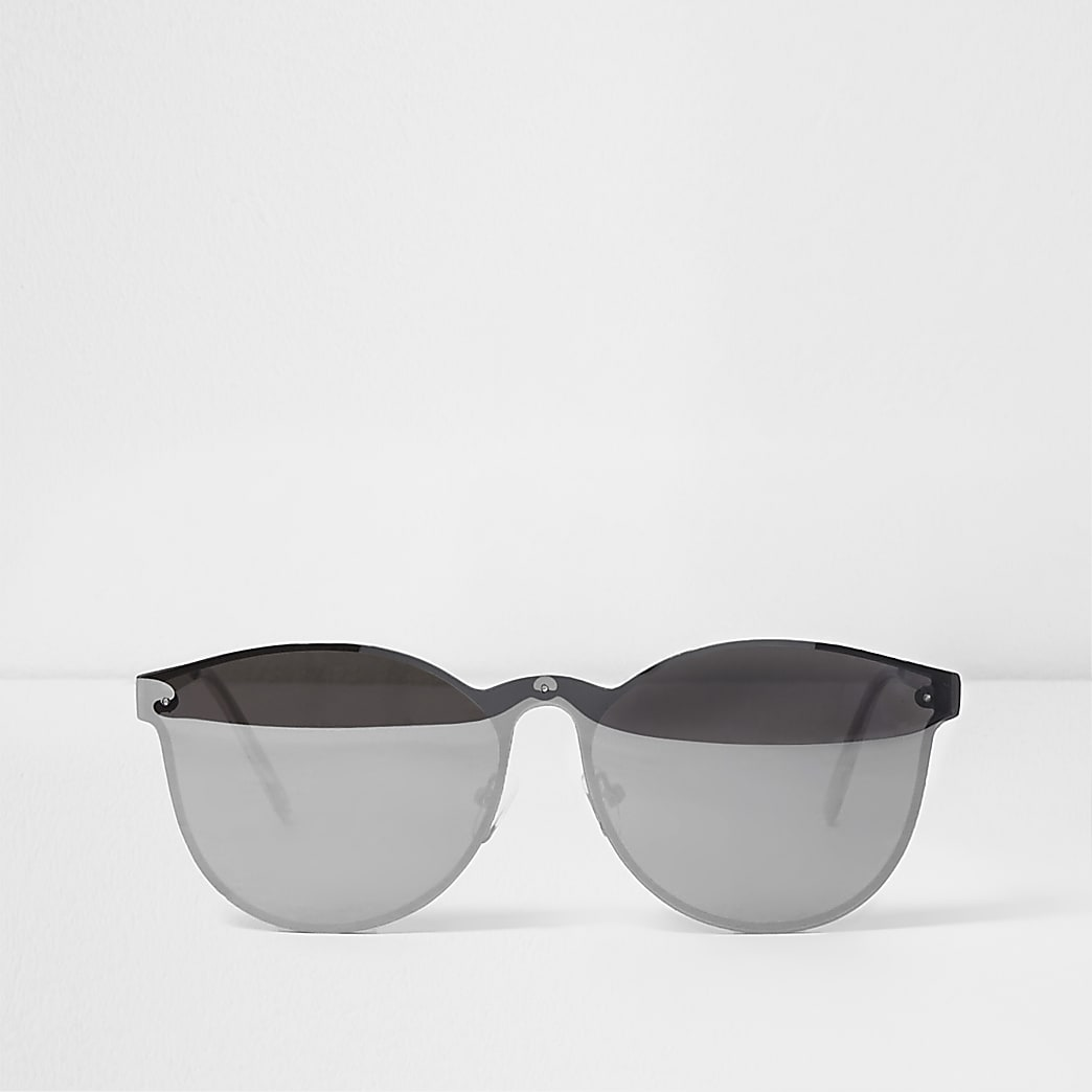 Grey over the lens mirror sunglasses
