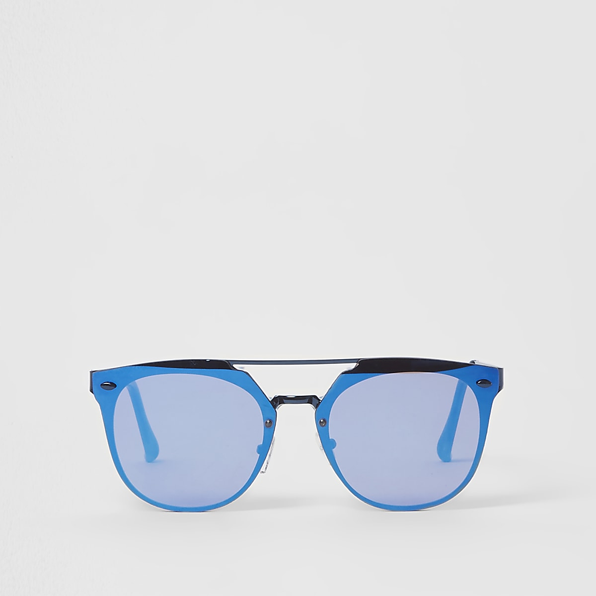Blue lens aviator sunglasses